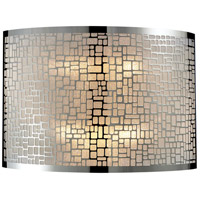 Polished Stainless Steel Glass Wall Sconces
