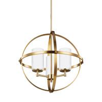 Decovio 16480-SBEW3 Smithtown 3 Light 19 inch Satin Bronze Chandelier Ceiling Light