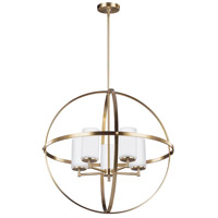 Decovio 16484-SBEW5 Smithtown 5 Light 27 inch Satin Bronze Chandelier Ceiling Light
