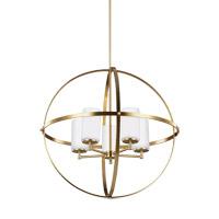 Decovio 16486-SBEW5 Smithtown 5 Light 27 inch Satin Bronze Chandelier Ceiling Light