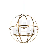 Decovio 16487-SBEW9 Smithtown 9 Light 33 inch Satin Bronze Chandelier Ceiling Light