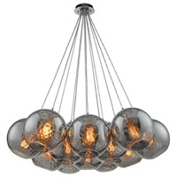 Decovio 13982-PCHD12 Poughkeepsie 12 Light 20 inch Polished Chrome Mini Pendant Ceiling Light Nesting