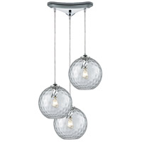 Decovio 13982-PCHC3 Poughkeepsie 3 Light 10 inch Polished Chrome Mini Pendant Ceiling Light, Triangular