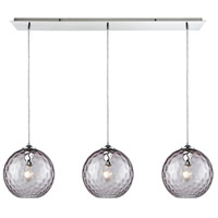 Decovio 13982-PCHP3 Poughkeepsie 3 Light 36 inch Polished Chrome Mini Pendant Ceiling Light Linear