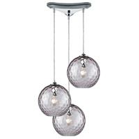 Decovio 13982-PCHP3-3 Poughkeepsie 3 Light 10 inch Polished Chrome Mini Pendant Ceiling Light, Triangular