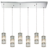 Decovio 13993-PCC6 Skippack 6 Light 9 inch Polished Chrome Mini Pendant Ceiling Light Rectangular