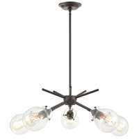 Decovio 14054-ORCI5 Johnstown 5 Light 30 inch Oil Rubbed Bronze Chandelier Ceiling Light