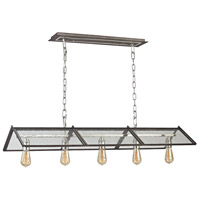 Decovio 14063-PNS5 Cuba 5 Light 15 inch Polished Nickel with Weathered Zinc Chandelier Ceiling Light