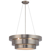 Decovio 14086-BSF3 Hermitage 3 Light 22 inch Brushed Stainless Chandelier Ceiling Light