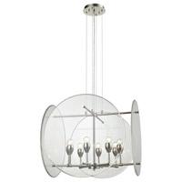 Decovio 14109-PNCA8 Plainfield 8 Light 25 inch Polished Nickel Chandelier Ceiling Light
