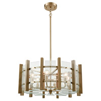 Decovio 14116-SBC6 Paradise 6 Light 24 inch Satin Black Chandelier Ceiling Light