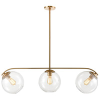 Decovio 14120-SBCI3 Croton 3 Light 42 inch Satin Brass Island Light Ceiling Light