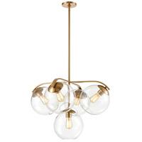 Decovio 14121-SBCI5 Croton 5 Light 28 inch Satin Brass Chandelier Ceiling Light