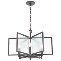 Decovio 14129-CTCI6 Bellefonte 6 Light 25 inch Charcoal Pendant Ceiling Light