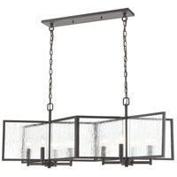 Decovio 14131-CTCI8 Bellefonte 8 Light 41 inch Charcoal Island Light Ceiling Light