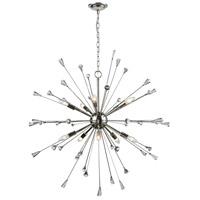 Decovio 14150-PNCCC10 Ralpho 10 Light 38 inch Polished Nickel Chandelier Ceiling Light