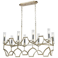 Decovio 14153-ASC8 Youngwood 8 Light 38 inch Antique Silver Leaf with Dark Graphite Island Light Ceiling Light
