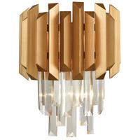 Decovio 14176-MGC2 Marion 2 Light 12 inch Matte Gold Sconce Wall Light