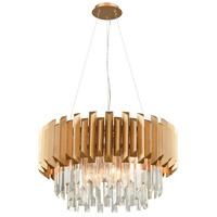 Decovio 14177-MGC6 Marion 6 Light 26 inch Matte Gold Chandelier Ceiling Light