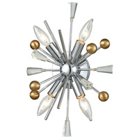 Decovio 14189-PC4 Clinton 4 Light 11 inch Polished Chrome with Satin Brass Sconce Wall Light