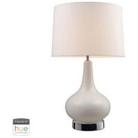 Decovio 16918-CWL1 Jefferson 27 inch 60 watt Chrome with White Table Lamp Portable Light