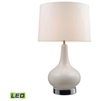 Decovio 16918-WCL1 Jefferson 27 inch 13.5 watt White & Chrome Table Lamp Portable Light