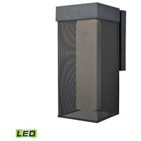 Decovio 14242-MBOWL1 Shippensburg LED 16 inch Matte Black Outdoor Sconce