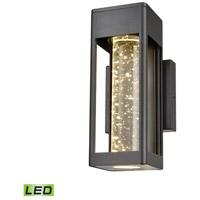 Decovio 14245-MBSL1 Edinboro LED 10 inch Matte Black Outdoor Sconce