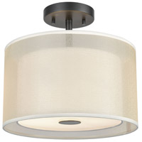 Decovio 14306-MB2 Hopewell 2 Light 12 inch Matte Black Semi Flush Mount Ceiling Light