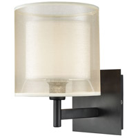 Decovio 14323-MB1 Hopewell 1 Light 9 inch Matte Black Vanity Light Wall Light