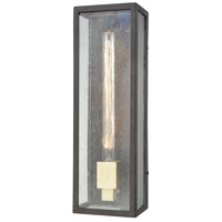 Decovio 14395-BBS1 Solvay 1 Light 16 inch Blackened Bronze with Brushed Brass Outdoor Sconce