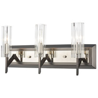 Decovio 14455-BNRRCI3 Patterson 3 Light 20 inch Black Nickel with Polished Nickel Vanity Light Wall Light