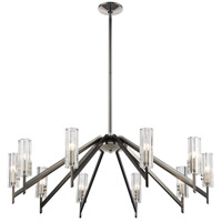 Decovio 14460-BNRRCI10 Patterson 10 Light 39 inch Black Nickel with Polished Nickel Chandelier Ceiling Light