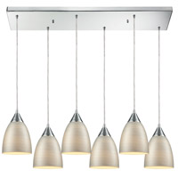 Decovio 14468-PCSL6 Oneonta 6 Light 30 inch Polished Chrome Mini Pendant Ceiling Light, Rectangular