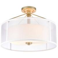 Decovio 14498-ASFI3 Mifflin 3 Light 18 inch Aged Silver Semi Flush Mount Ceiling Light