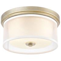 Decovio 14499-ASFI2 Mifflin 2 Light 13 inch Aged Silver Flush Mount Ceiling Light