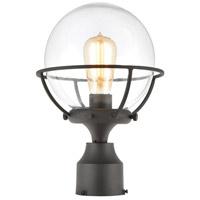Decovio 14553-CCI1 Skaneateles 1 Light 13 inch Charcoal Outdoor Post Mount