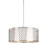 Decovio 16706-BNSE3 New Paltz 3 Light 21 inch Brushed Nickel Pendant Ceiling Light