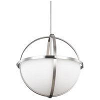 Decovio 16745-BNEW3 Smithtown 3 Light 19 inch Brushed Nickel Pendant Ceiling Light