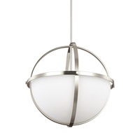 Decovio 16747-BNEW3 Smithtown 3 Light 19 inch Brushed Nickel Pendant Ceiling Light