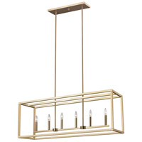 Decovio 16752-SBL6 Guilderland LED 42 inch Satin Bronze Island Pendant Ceiling Light