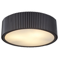 Decovio 14711-OR3 Arcadia 3 Light 17 inch Oil Rubbed Bronze Flush Mount Ceiling Light