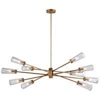 Decovio 14818-MGS10 Rockville 10 Light 54 inch Matte Gold Chandelier Ceiling Light