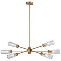 Decovio 14819-MGS6 Rockville 6 Light 38 inch Matte Gold Chandelier Ceiling Light
