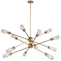 Decovio 14820-MGS12 Rockville 12 Light 54 inch Matte Gold Chandelier Ceiling Light