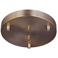 Decovio 16770-SB3 Edward Satin Bronze Pendant Cluster Canopy, 3-Port