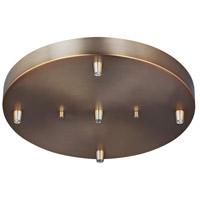 Decovio 16771-SB5 Edward Satin Bronze Pendant Cluster Canopy 5-Port