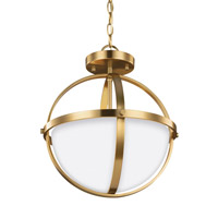Decovio 16814-SBEW2 Smithtown 2 Light 14 inch Satin Bronze Semi-Flush Convertible Pendant Ceiling Light