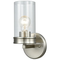 Decovio 14970-SNCB1 Birmingham 1 Light 6 inch Satin Nickel Vanity Light Wall Light