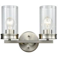 Decovio 14971-SNCB2 Birmingham 2 Light 13 inch Satin Nickel Vanity Light Wall Light